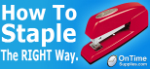 How to use a stapler. Yeah, you're doing it wrong.