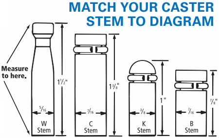 How to measure chair caster stems