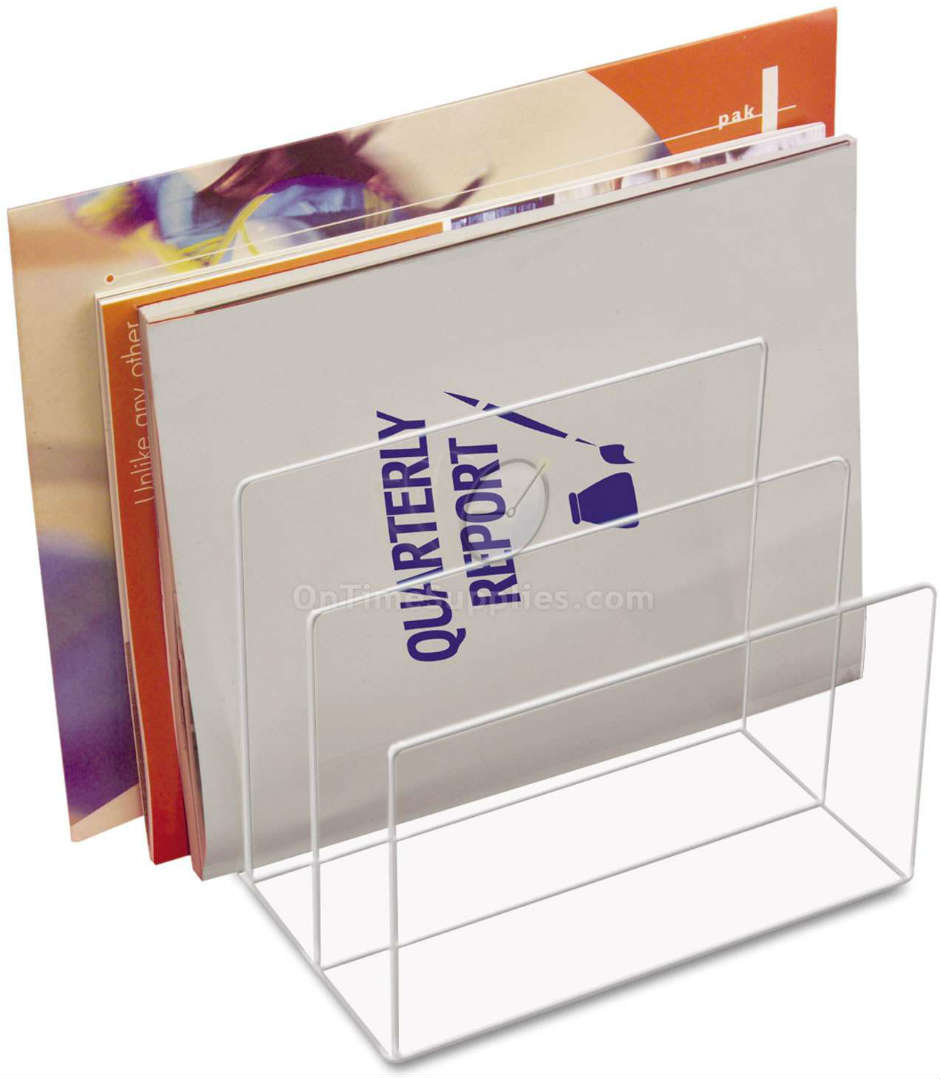 KTKAD45 Clear Acrylic Desk File Sorter by Kantek