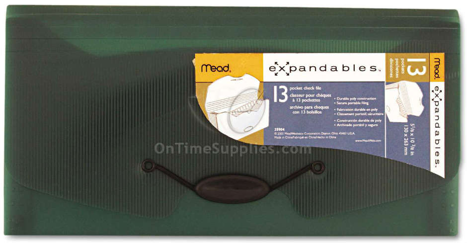 MEA35904 Expandables 13-Pocket Expanding File, Check Size by Mead