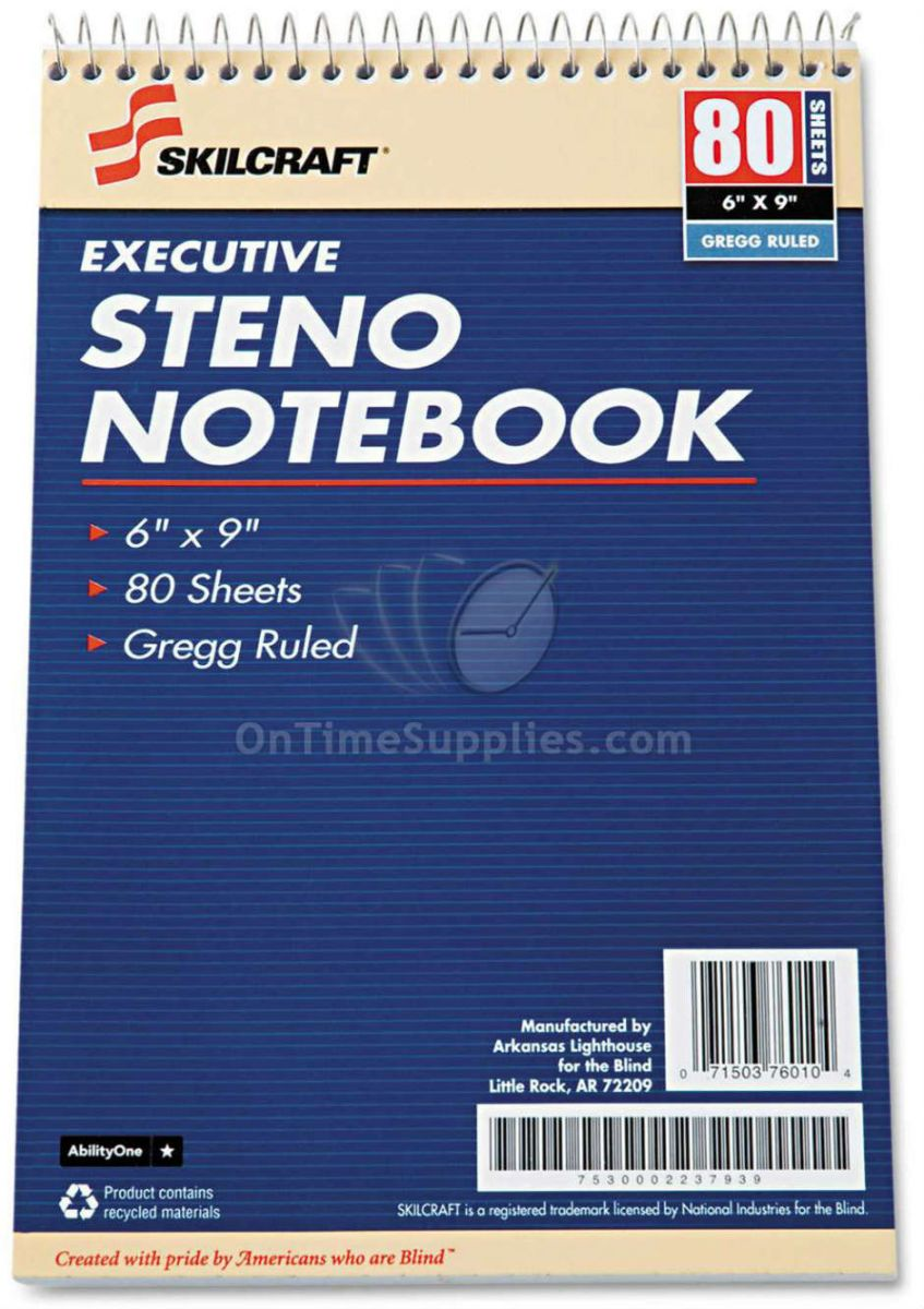 Skilcraft Executive Steno Pad Notebook