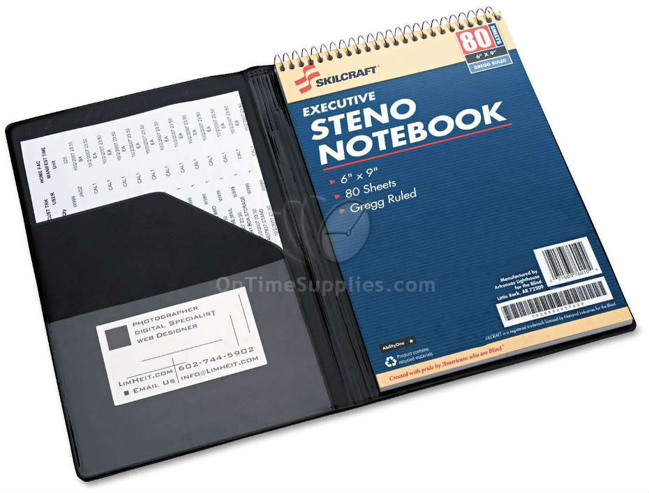 Nsn4547388 Abilityone Padfolio For Steno Pads