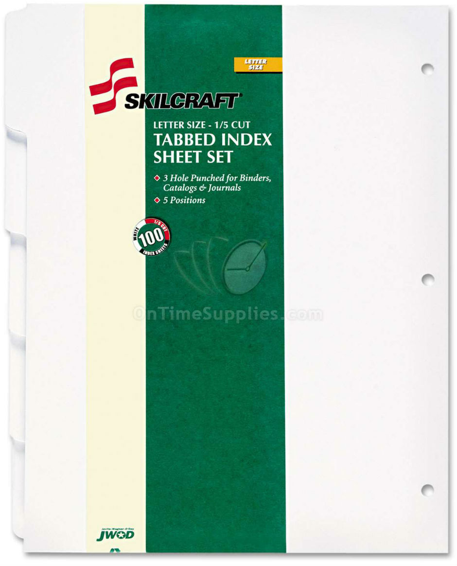 NSN9594441 Skilcraft Index Tab Binder Dividers