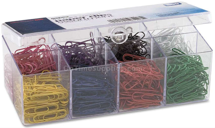 Officemate Plastic Coated Paper Clips OIC97228