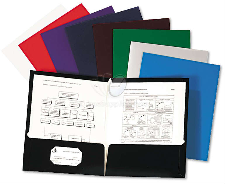 Oxford® Laminated Twin Pocket Folders