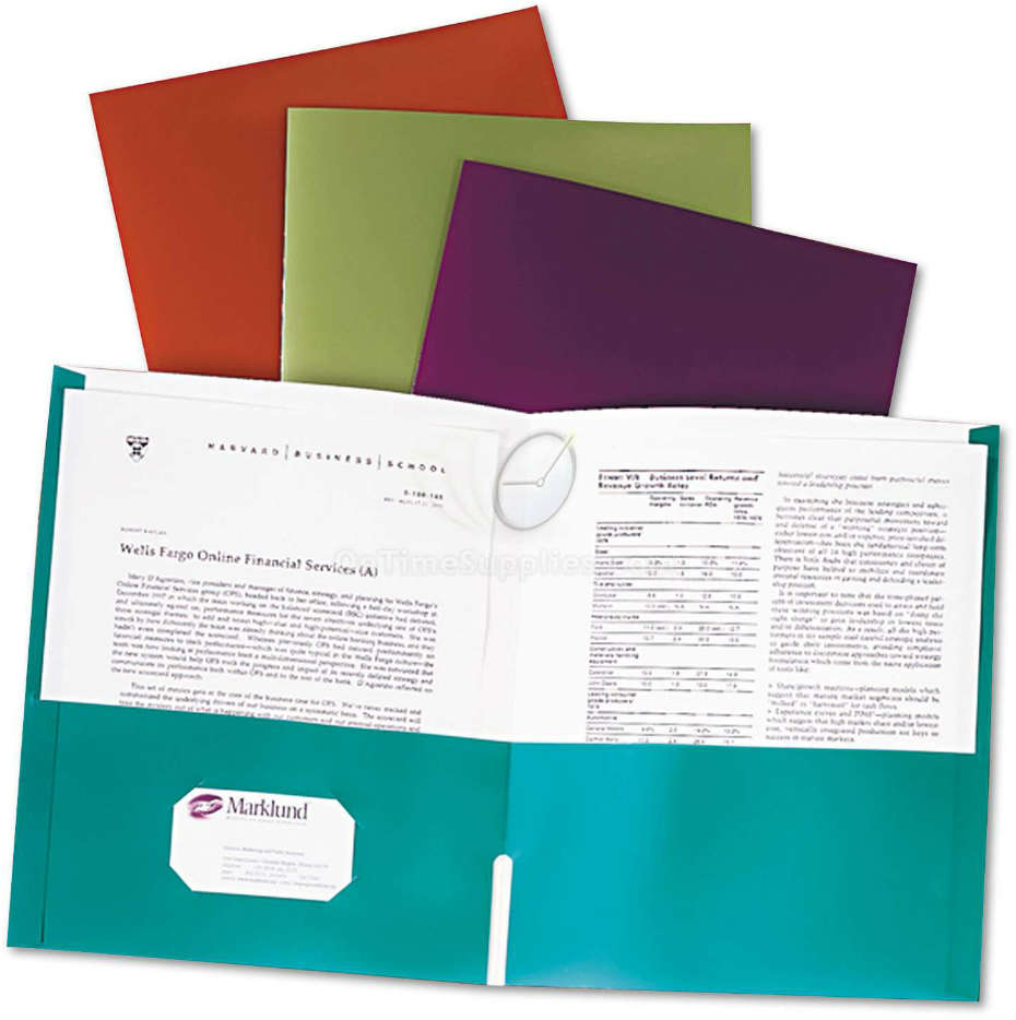 Metallic Laminated Oxford® Twin Pocket Folders