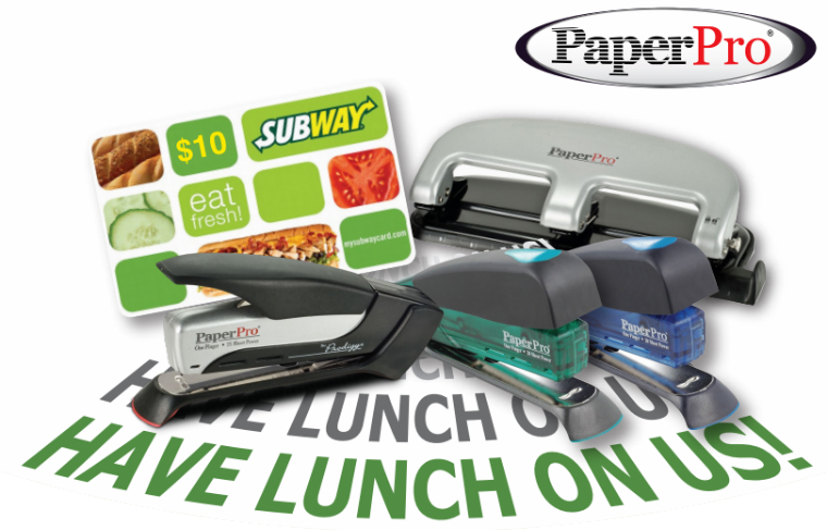 Download PaperPro Staplers Mail in Rebate for Subway Gift Card