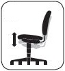 Pneumatic Seat Height Adjustment: ergonomic desk chair feature