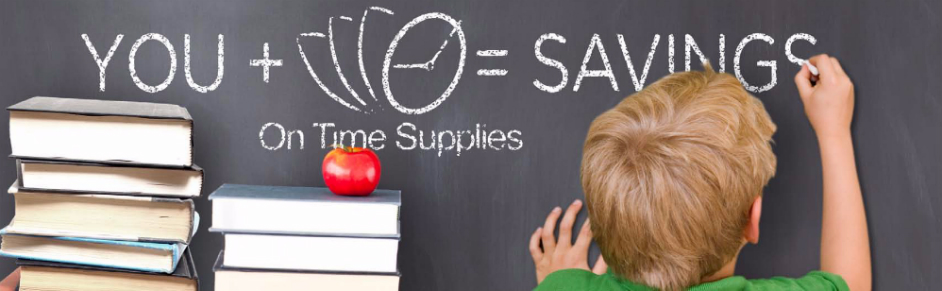 Pay less for discount school supplies at OnTimeSupplies.com