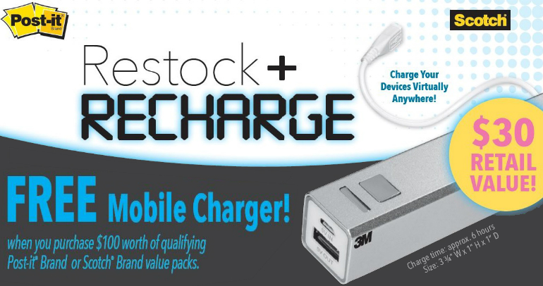Free Mobile Charge with Scotch / Post-it Mail in Rebate