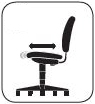 Seat Glide: ergonomic desk chair feature