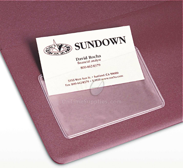 Self-Adhesive Business Card Holders at OnTimeSupplies.com