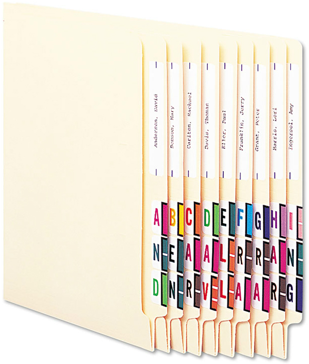 Smead® A-Z Color-Coded End Tab Filing Labels