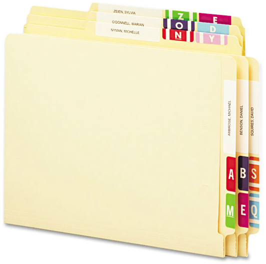 Smead® Alpha-Z® Color-Coded Second Letter Alphabetical Labels