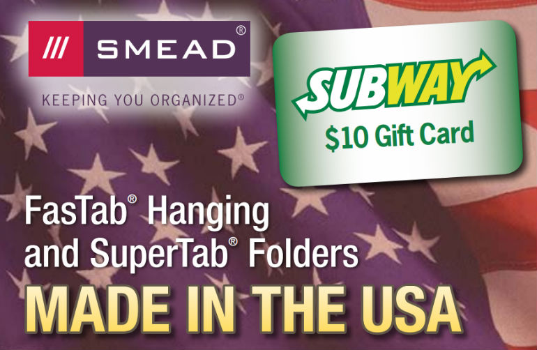 Smead Fastab & SuperTab Folders Mail in Rebate
