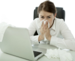Survive Cold & Flu Season: wipe down office supplies with disinfectant wipes.