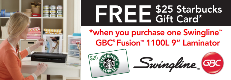 Swingline GBC Fusion 1100L Laminator Mail in Rebate