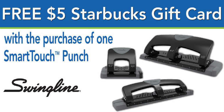 Swingline® SmartTouch Hole Punch Mail in Rebate