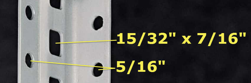 Tennsco Q-Line Industrial Post Kit Hole Sizes