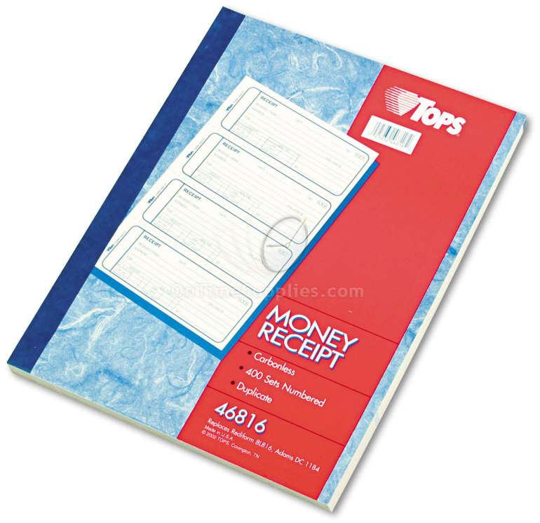 TOPS® Money and Rent Receipt Books