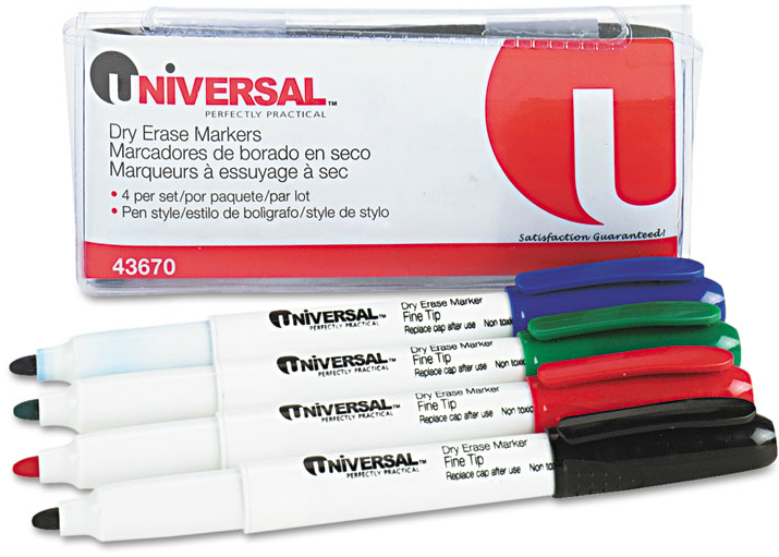 Universal® Pen Style Dry Erase Markers