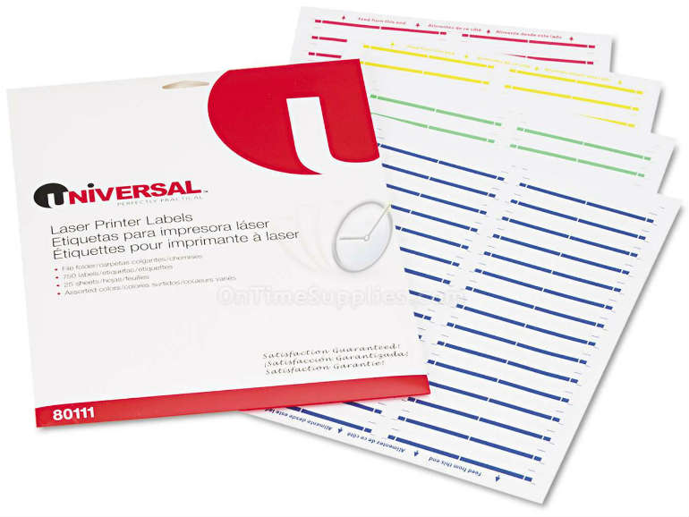 Universal® Self-Adhesive File Folder Labels