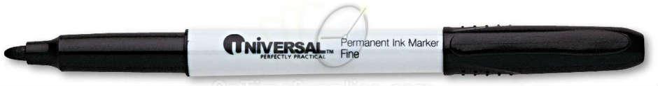 Black DZ UNV07071 Fine Point Universal Pen Style Permanent Markers Dozen