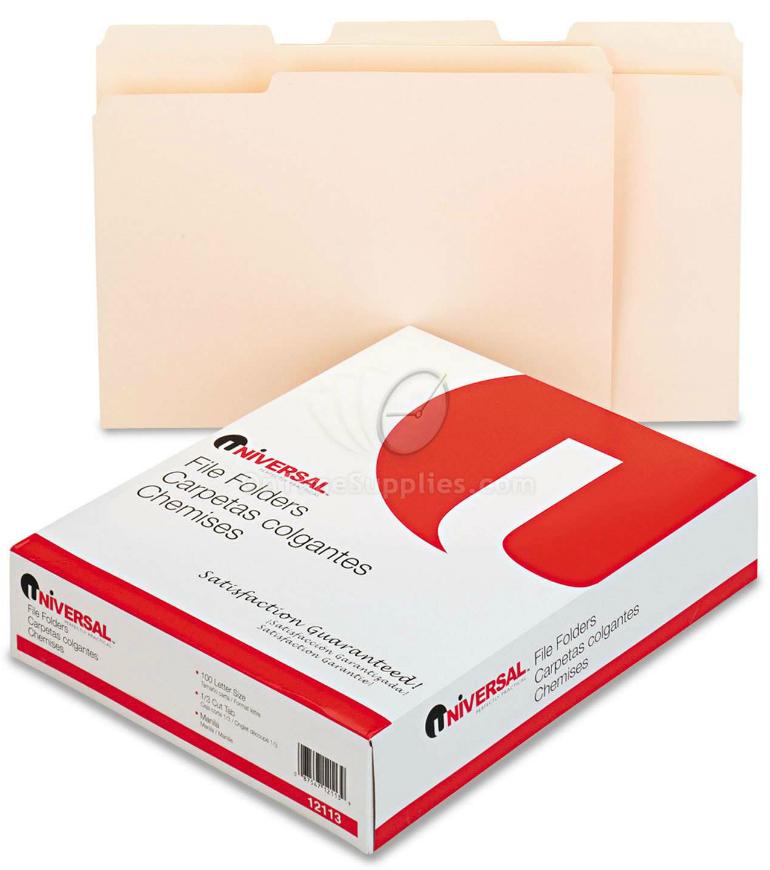 Universal® Top Tab Manila File Folders UNV12113