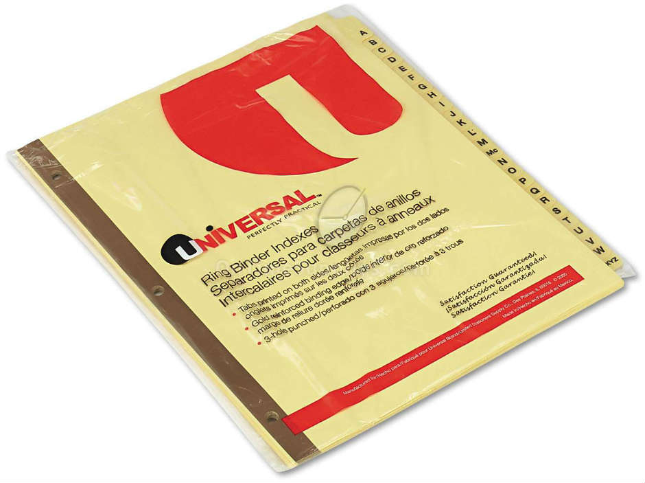 UNV20812  Tab Dividers for Alphabetical Indexing Systems, by Universal