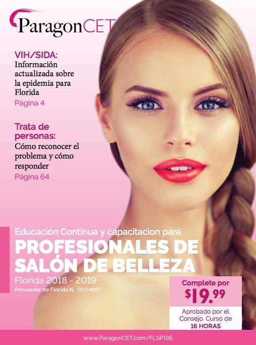 Curso de 16 horas de educación continua (EC) para profesionales de salones de belleza de Florida (incluye módulos optativos sobre violencia doméstica y trata de personas)