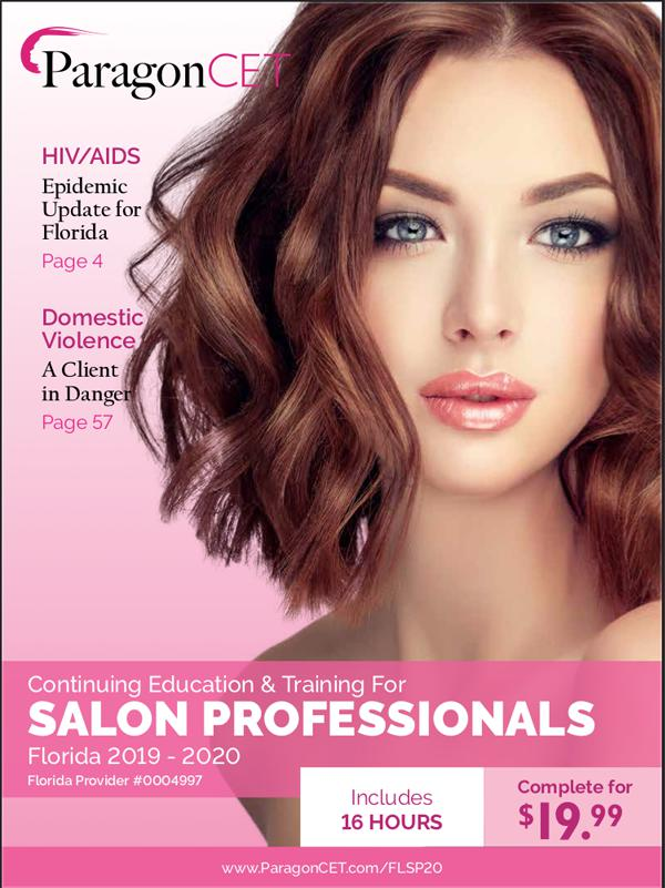 16-Hour CE Course for Florida Salon Professionals (Includes Violence and Trafficking Electives) 2019 - 2020