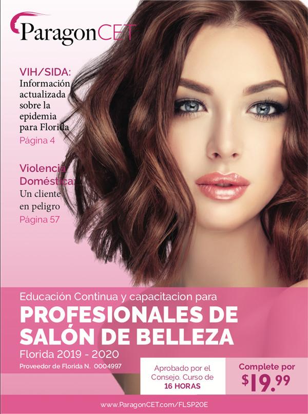 Curso de 16 horas de educación continua (EC) para profesionales de salones de belleza de Florida (incluye módulos optativos sobre violencia doméstica y trata de personas) 2019-2020