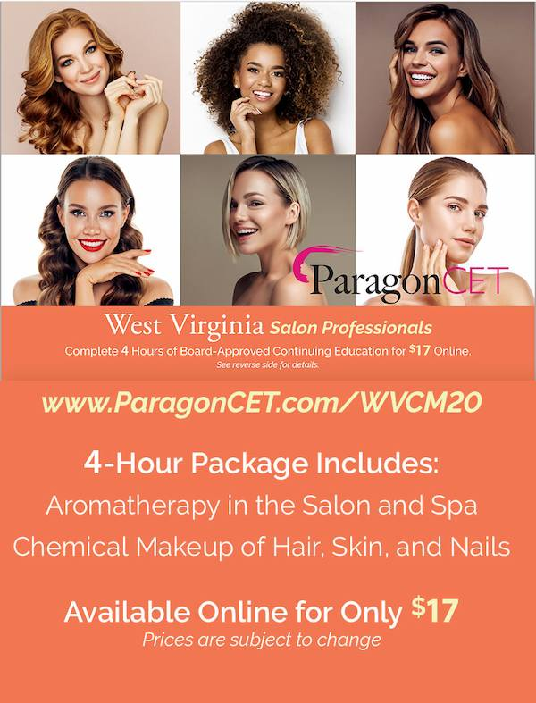 West Virginia Salon Professionals 4 Hour Package 2020