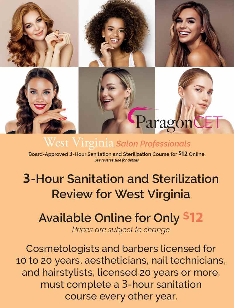 West Virginia Salon Professionals 3-Hour Sanitation Review 2020