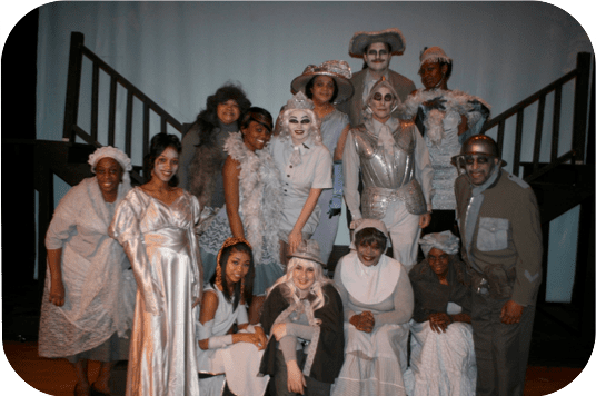 Addams Family cast in full makeup