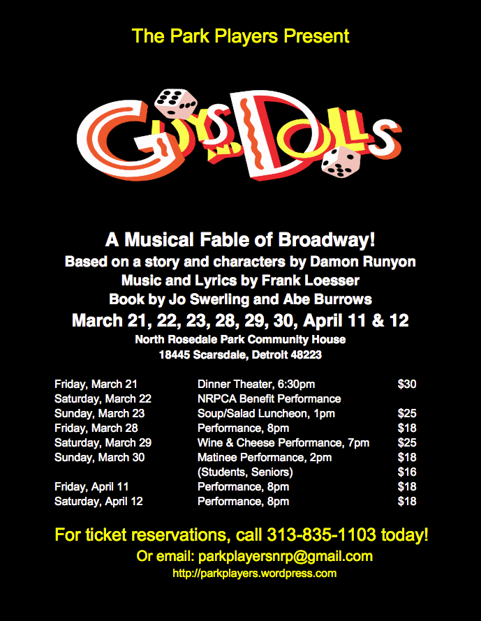 Guys and Dolls flier