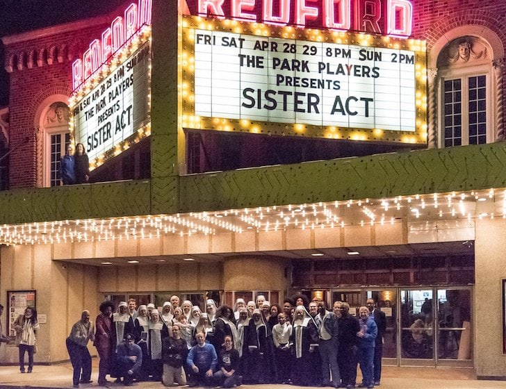 Cast outside of Redford Theatre