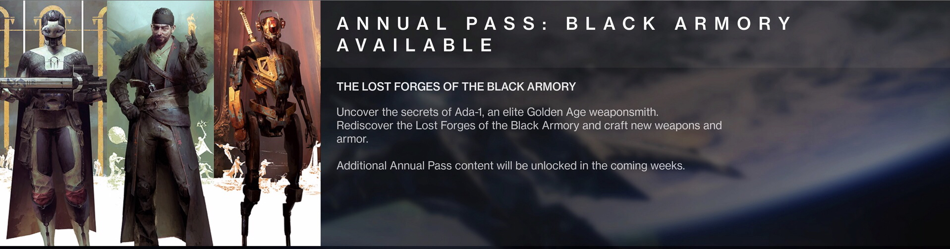82775b3a5e7 Destiny 2  Black Armory DLC Launches — Steemit