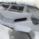 Floor Center Console with Rear Armrest and Storage OEM Khaki Color 97-06 TJ LJ 5HE62ZJ3AE