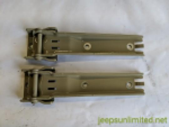 Tailgate Rear Hinge Set Upper and Lower Khaki Tan Color 07-18 JK 55395401AH