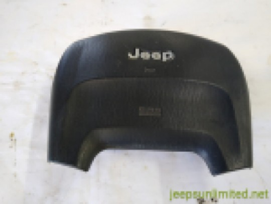 Air Bag Black Driver Side Steering Wheel with Chrome Letters 2001 WJ 5GT61LAZAA