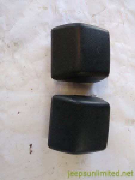 Front Black Bumper Pad Guard Set (2) with Nuts 97-06 Wrangler TJ LJ 52000240AC