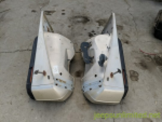 Front Fender Set Driver Left and Passenger Right Side Gold 87-95 YJ 55345024 55345025