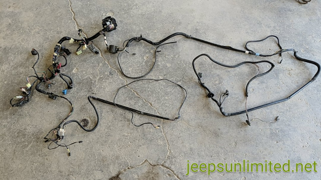 Interior Dash Wiring Harness Instrument Panel with Hard Top Plug