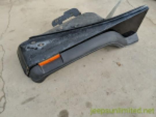 Front Fender Driver Left Side Black OEM 87-95 YJ 55176357
