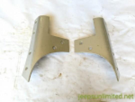 Silver Windshield Frame Reinforcement Bracket Set Side 07-18 JK 55395578AD, 55395579AD