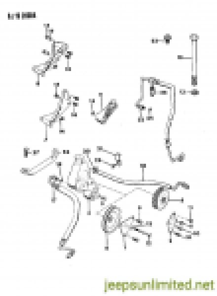 Power Steering Pump Bracket for V-Belt 4.2L Inline 6 Engines J3237232