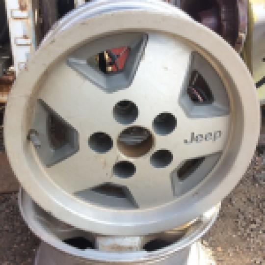 5 Spoke 15 Inch Wheel Factory Aluminum Rim 52003368 YJ 1987-1995