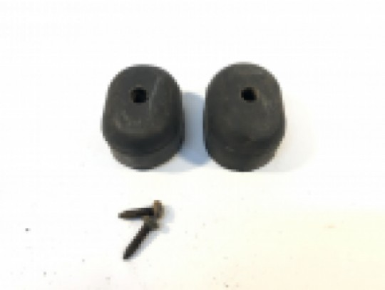 "2 Tail Gate Rubber Bumpers for Spare Tire Carrier 1.5"" with Torx Screws 55013350"