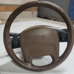 Steering Column Loaded with Wheel Airbag Clockspring and Levers Camel Tan 99-04 WJ 55115970AI